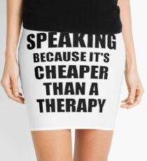 Public Speaking Cheaper Than a Therapy Funny Hobby Gift Idea Minirock