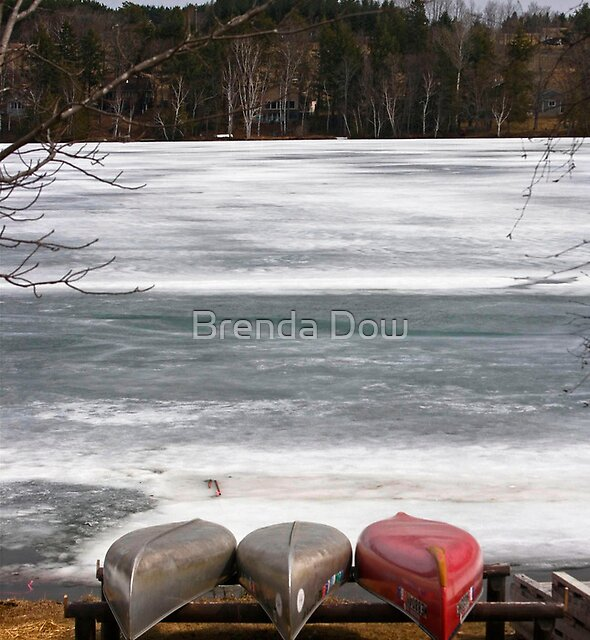 Awaiting Ice Out by Brenda Dow