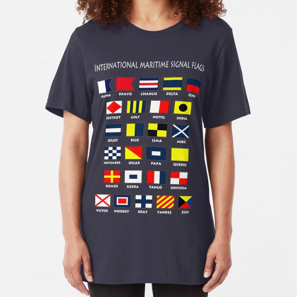Maritime Flags Slim Fit T-Shirt