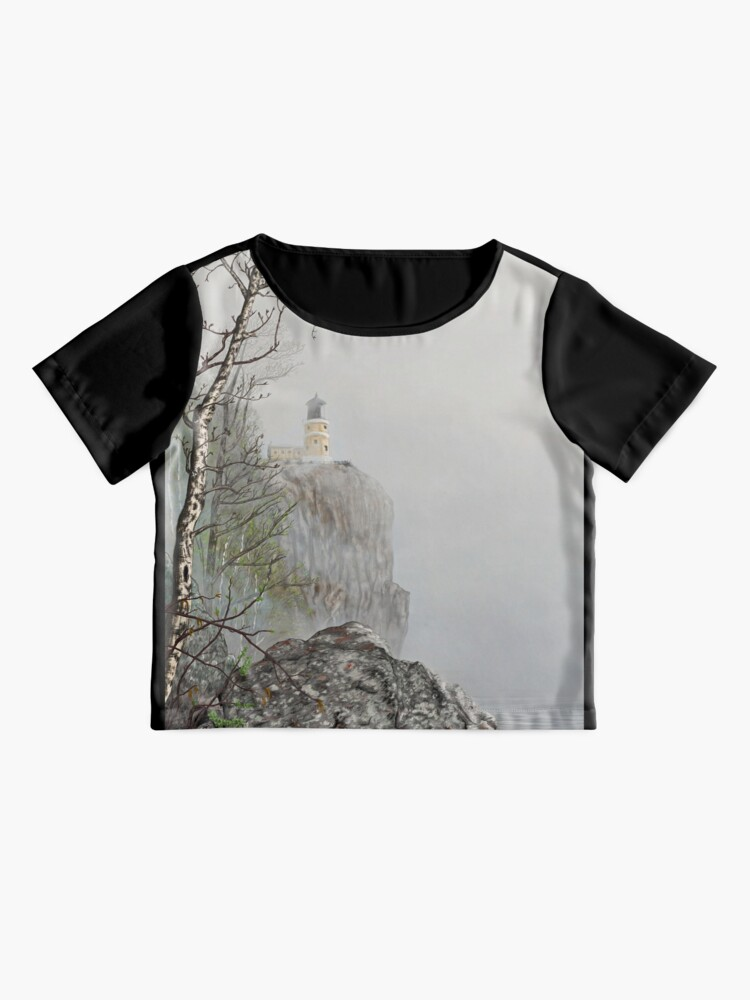 Alternate view of North Shore Lighthouse in the Fog Chiffon Top