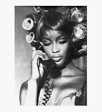 Naomi Campbell : On the Phone Photographic Print