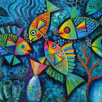 Psychedelic fish by karincharlotte