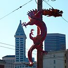 Downtown Seattle Dragon Smith Tower by Cara Schingeck