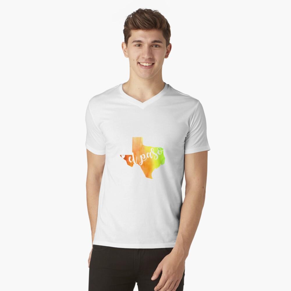 El Paso T-Shirt mit V-Ausschnitt