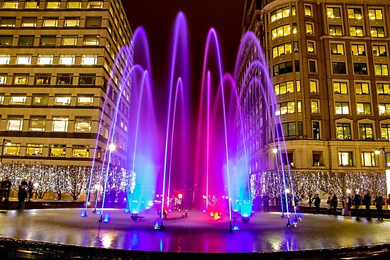 Cabot Square Fountain by tEdits