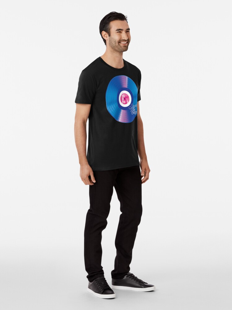 Alternate view of Sounds From The Bridge – Bright Blue Groove EP design Premium T-Shirt