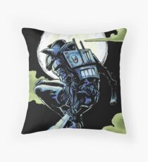 Blue - The Big Bad Wolf Throw Pillow