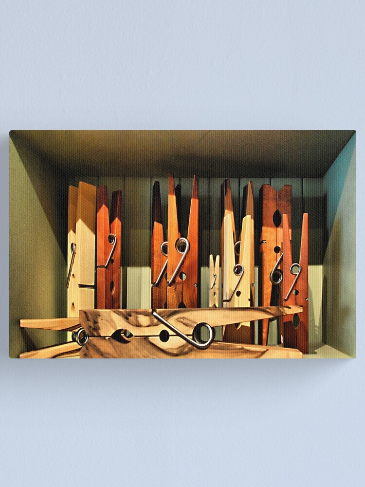 Alternate view of Clothespins Canvas Print