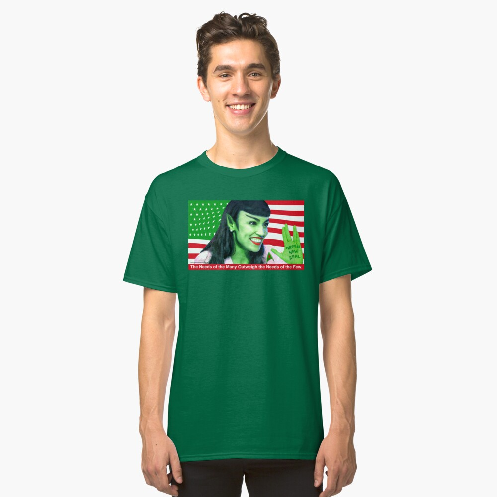 Green New Deal Classic T-Shirt Front