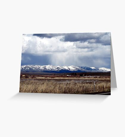 SNOW STORM over Eastern Oregon Peak, USA Greeting Card