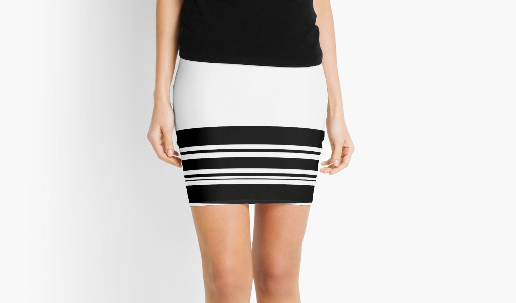 Black and White Modern Stripes by Melissa Park