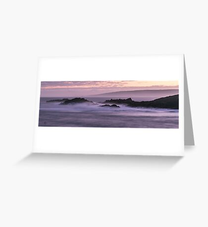 Canal Rocks At Dawn Greeting Card