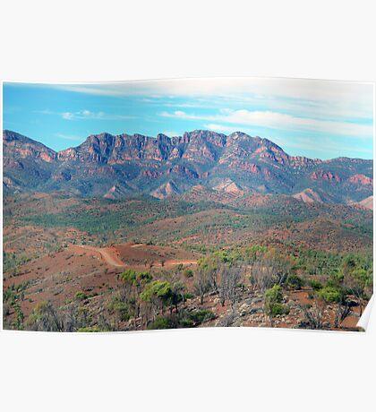 Bunyeroo Valley and Heysen Range , Flinders Ranges, South Australia Poster
