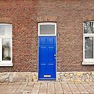 Blue door in Maastricht, Netherlands by Jeff Hathaway