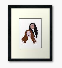 Allison and Lydia Framed Print