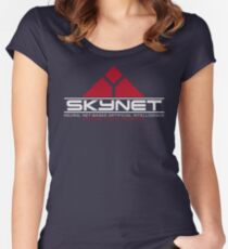 Skynet - Neural Net-Based Artificial Intelligence Women's Fitted Scoop T-Shirt