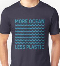 Mehr Ozean weniger Plastik-Türkis-Welle Slim Fit T-Shirt