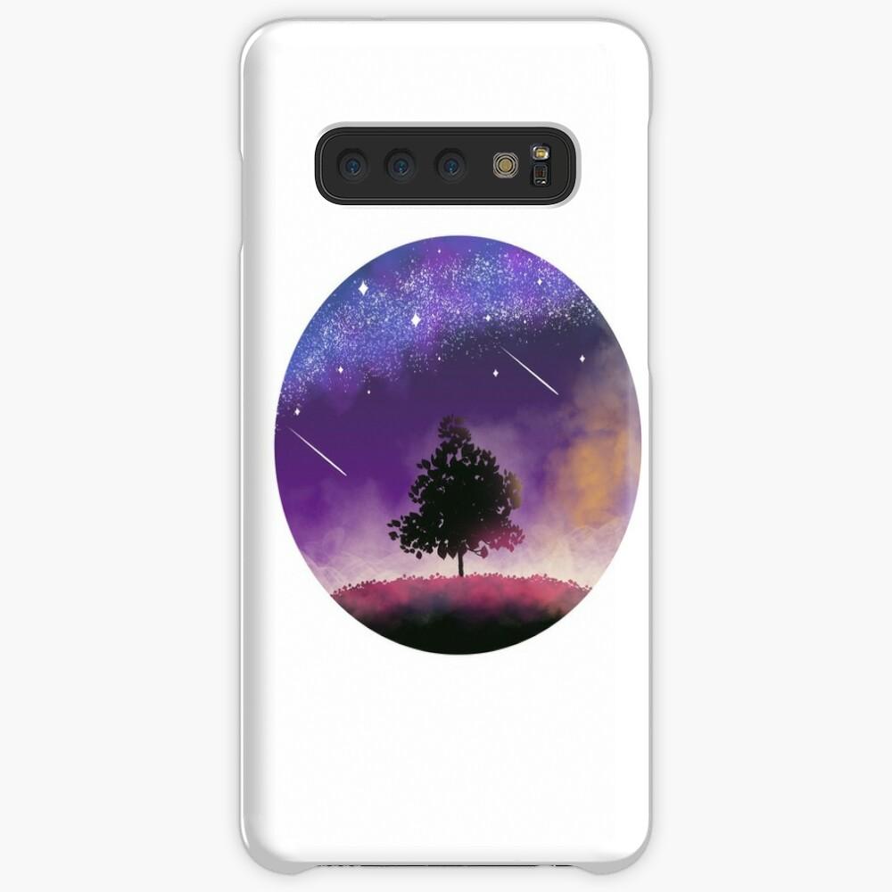 Nachthimmel Hülle & Klebefolie für Samsung Galaxy