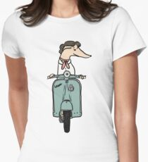 Italian Greyhound on Roman Holiday Womens Fitted T-Shirt