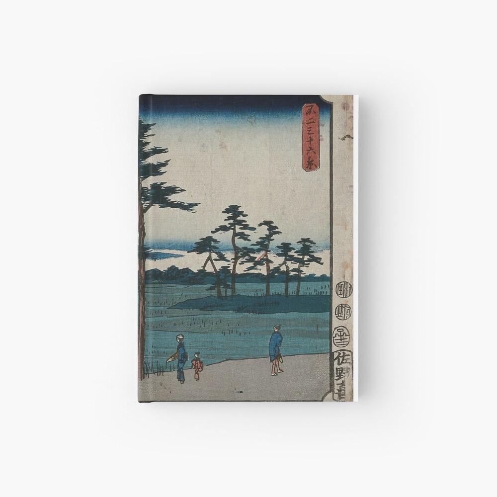 Hiroshige - 36 Views of Mount Fuji (1852) - 24: Field in Kinegawa Hardcover Journal
