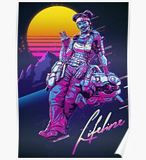 Apex Legends - Lifeline 80s Retro Poster Poster