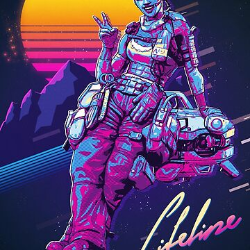 Apex Legends - Lifeline 80s Retro Poster de NinjaDesignInc