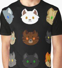 Katzencollage Grafik T-Shirt