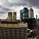 Stormy Melbourne Skyline by Derek Kan