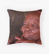 Himba Elder Throw Pillow