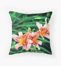 Lilly blooms in a row Floor Pillow