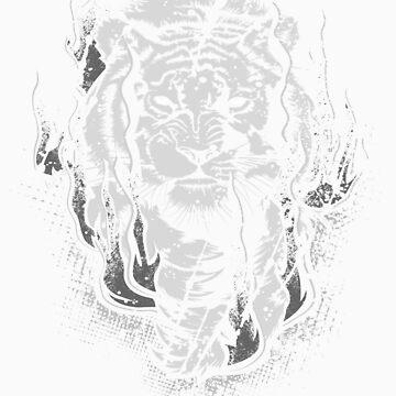 TigerKing_BW by glitchgee
