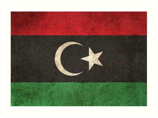 Old and Worn Distressed Vintage Flag of Libya by jeff bartels