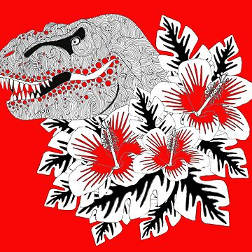 Hawaiian T Rex  by Surrealist1