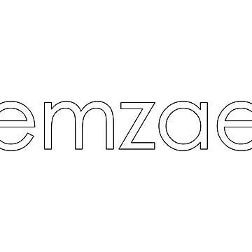 Classic emzae logo sticker by emzae