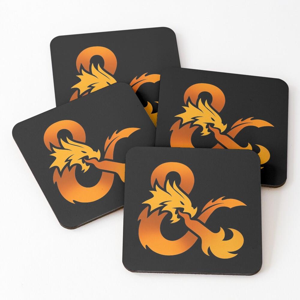 Dungeons & Dragons (Orange) Coasters (Set of 4)