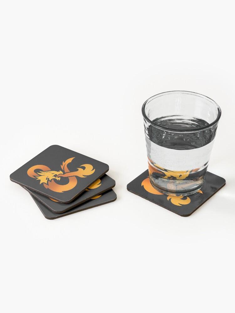 Alternate view of Dungeons & Dragons (Orange) Coasters (Set of 4)