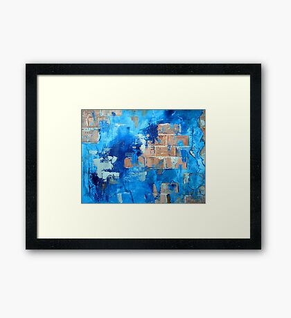 Behind the blue painted wall Framed Print