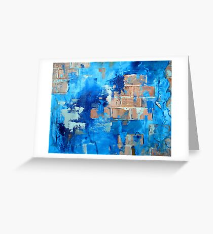 Behind the blue painted wall Greeting Card