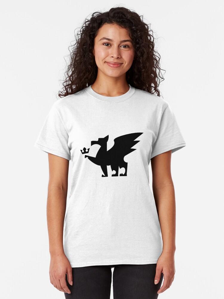 Alternate view of Sparky Nouveau - Black Classic T-Shirt