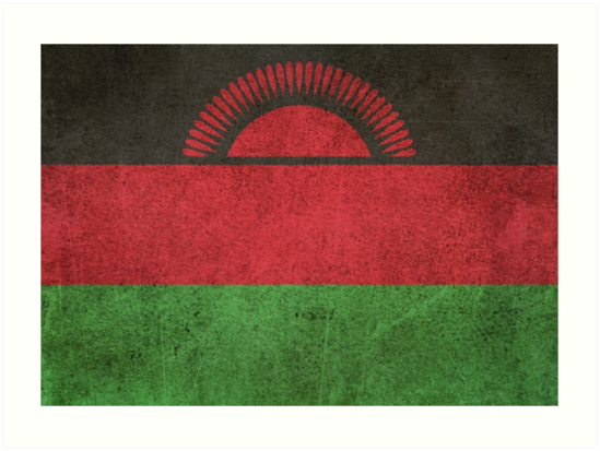 Old and Worn Distressed Vintage Flag of Malawi by jeff bartels
