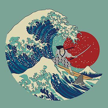 Siente La Ola _samurai_shark_fujisan de nickmanofredda