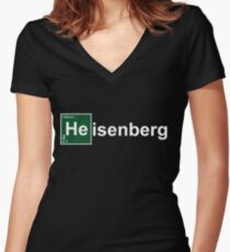 Breaking Bad Heisenburg Women's Fitted V-Neck T-Shirt