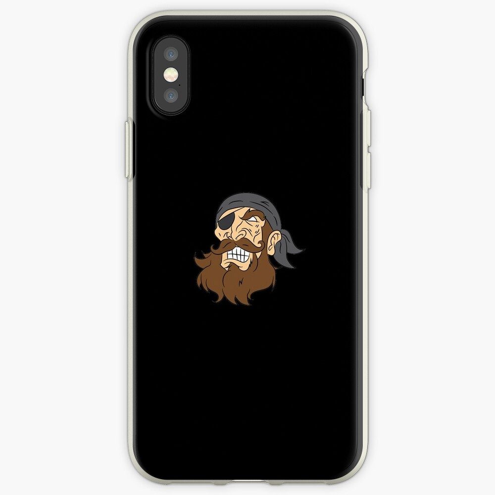 Pirate pirate head sailor lake gift laugh iPhone-Hülle & Cover