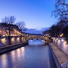 The Seine in the dusk by Irina-C
