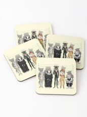 Unusual Suspects Coasters