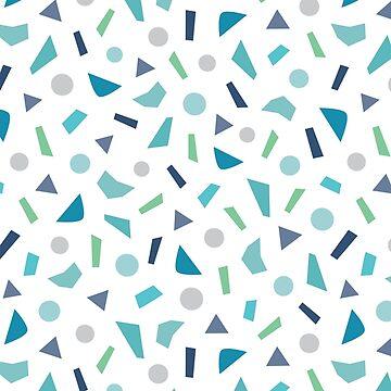 Confetti Pattern in Aqua Blue by daisy-beatrice