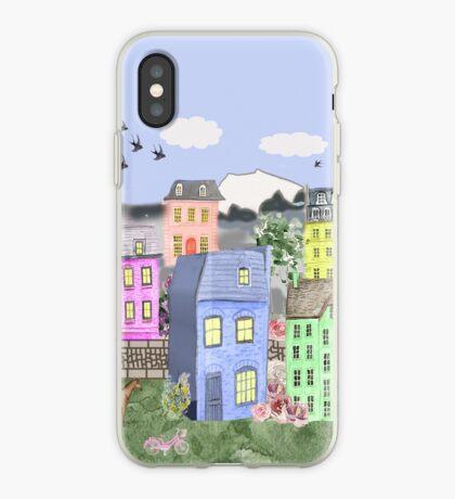 Pastel Village iPhone Case