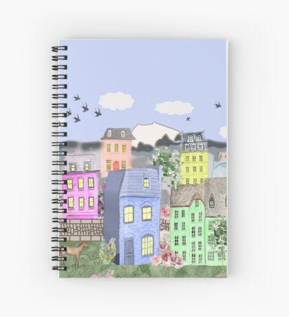 Pastel Village Spiral Notebook