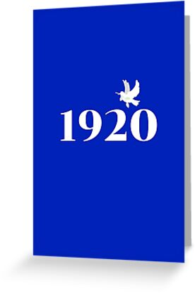 1920 White on Royal Blue by Tiare Smith