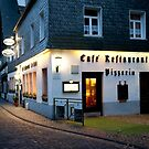 Cafe and Restaurant in Monschau, Germany by Jeff Hathaway